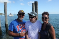 Adam, Sam and Joanne at King fisher